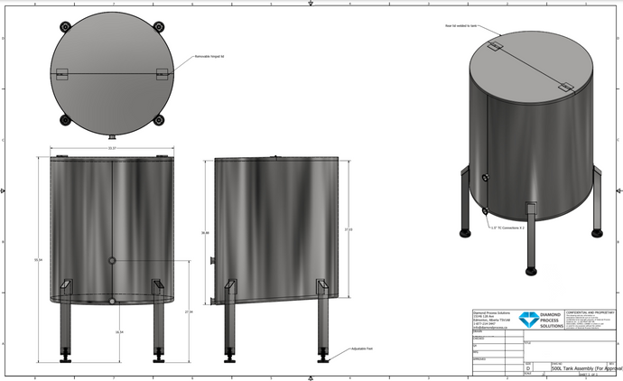500L Stainless Steel Tank