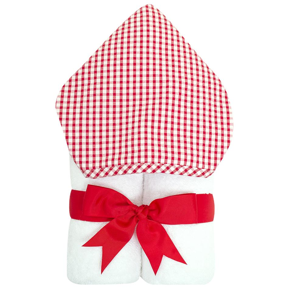 Hooded Towel - Red Check