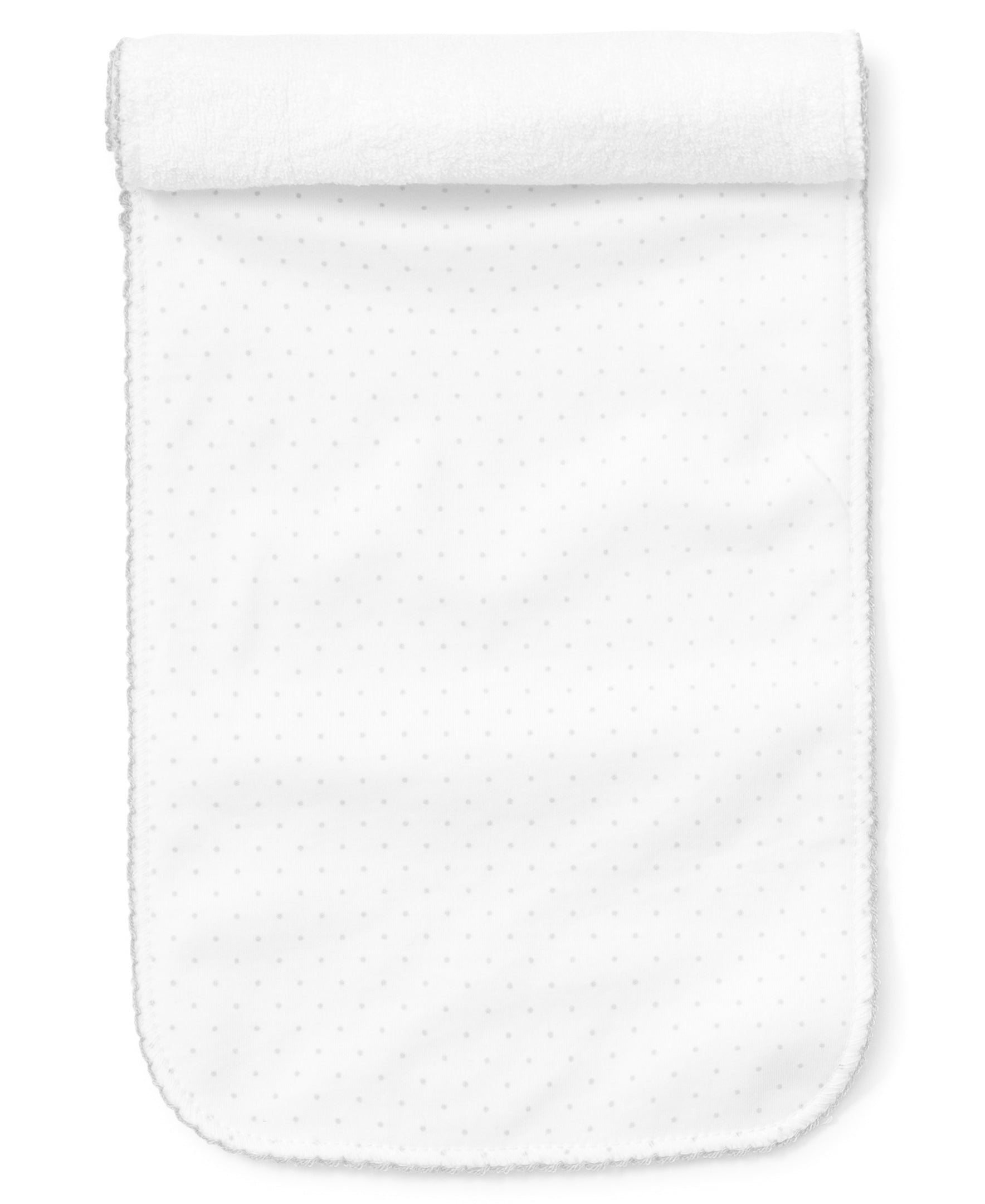 Silver Dot Burp Cloth