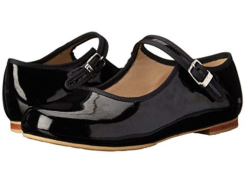 Mary Jane with Piping - Black Patent
