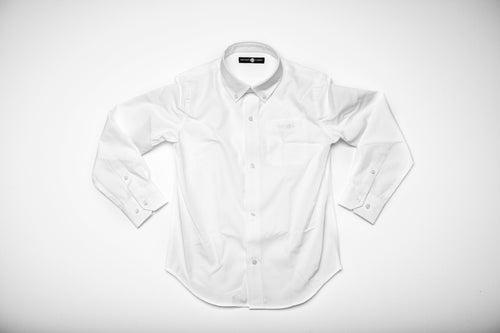 Bowen Arrow Button Down - Wentworth White