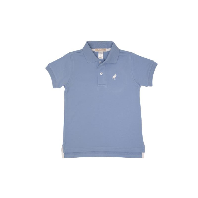 Copy of Prim & Proper Polo - Park City Periwinkle with Worth Avenue White Stork