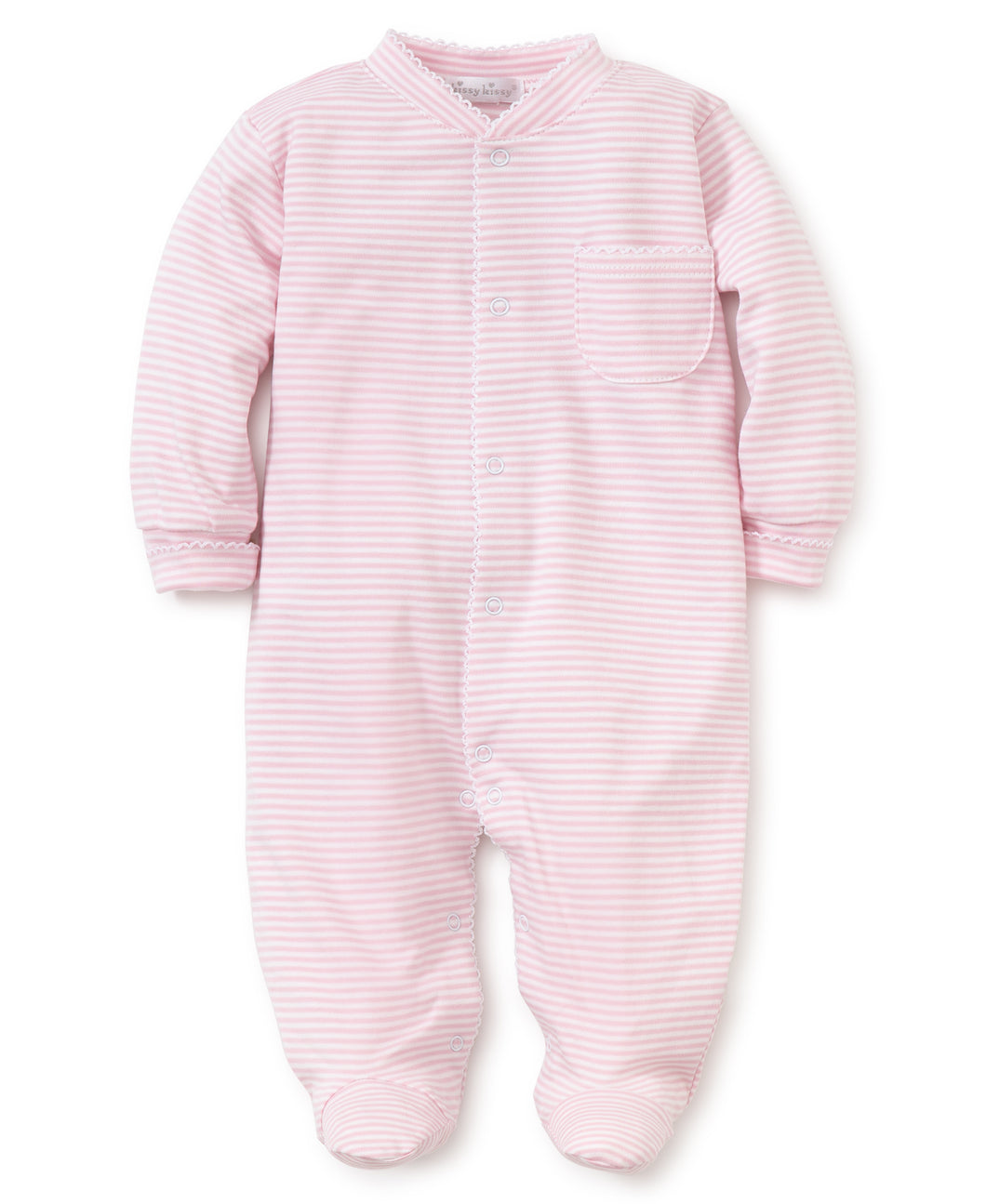 Pink Stripe Footie