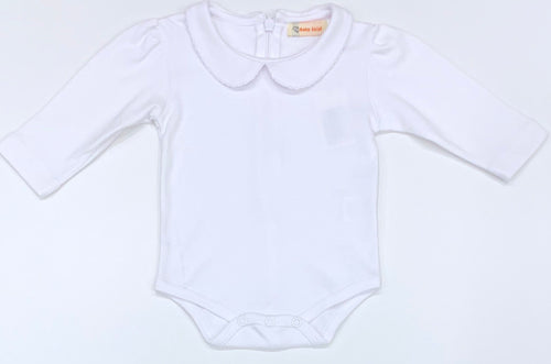 White Peter Pan Ruffle Collar Onesie