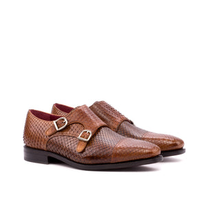 Double Monk Python Skin Shoes