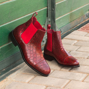 Chelsea Boot Alligator Skin Shoes