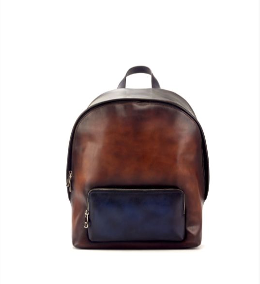 Backpack - Navy & Cognac