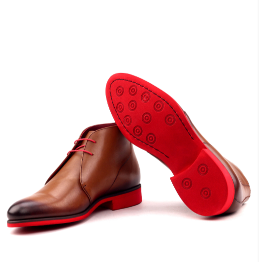 Chukka Boot - Brown Calf & Red Sole