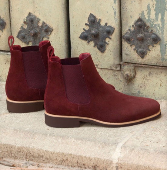 Chelsea Boot - Burgundy Lux Suede
