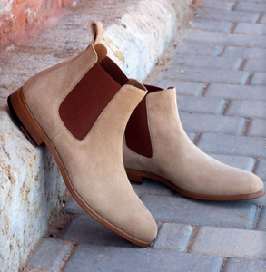 Chelsea Boot - Taupe Kid Suede