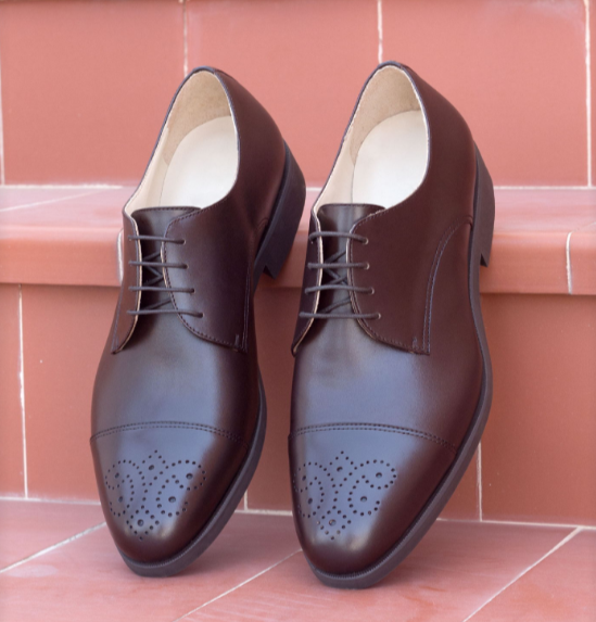 Derby Shoe - Dark Brown Calf