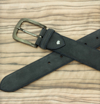 Hamptons Belt - Grey Lux Suede