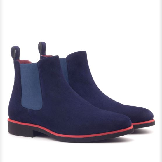 Chelsea Boot - Navy Kid Suede