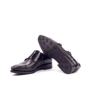 Double Monk Alligator Skin Shoes