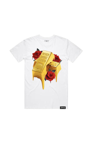 Gold Drip T-Shirt - White