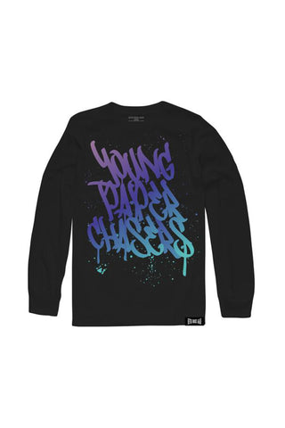 Young Paper Chasers Long Sleeve - Black