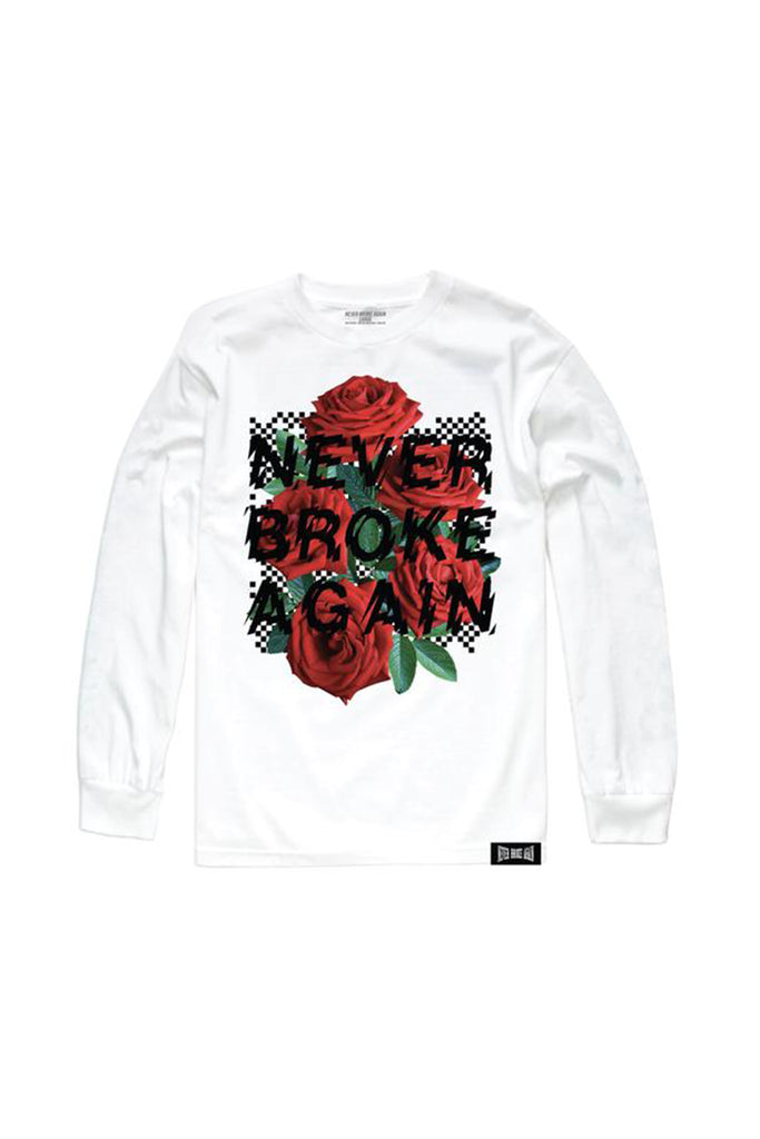 Rose Checkers Long Sleeve - White
