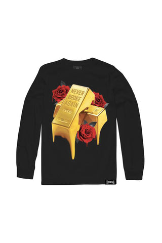 Gold Drip Long Sleeve - Black