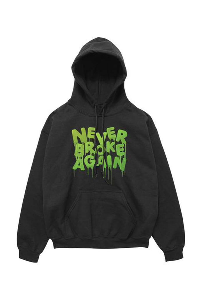 Never Broke Again Drip Slime Hoody - Black
