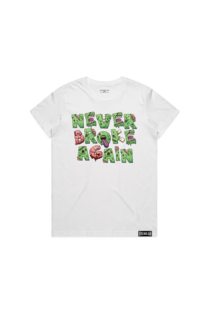 Never Broke Again Zombie Womans T-Shirt - White