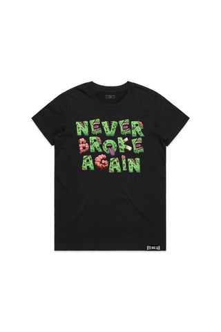 Never Broke Again Zombie Womans T-Shirt - Black