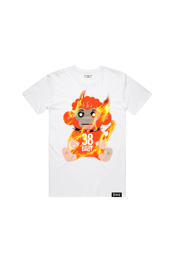 Flame Monkey - White