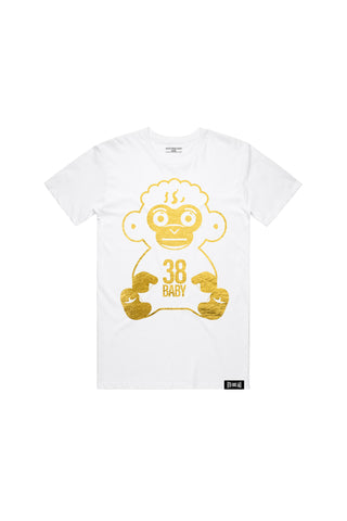 38 Baby Gold Foil T-shirt - White