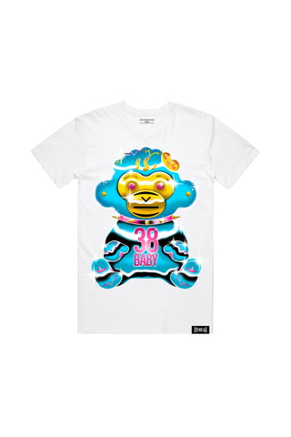 38 Baby Chrome T-Shirt - White + 38 BABY 2 DIGITAL ALBUM