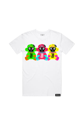38 Baby Triples T-Shirt - White + 38 BABY 2 DIGITAL ALBUM