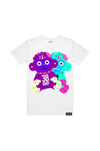 38 Baby Doubles T-Shirt - White + 38 BABY 2 DIGITAL ALBUM