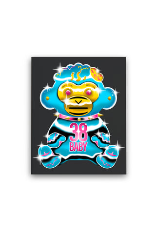 38 Baby Chrome Monkey - Premium Stretched Canvas + 38 BABY 2 DIGITAL ALBUM