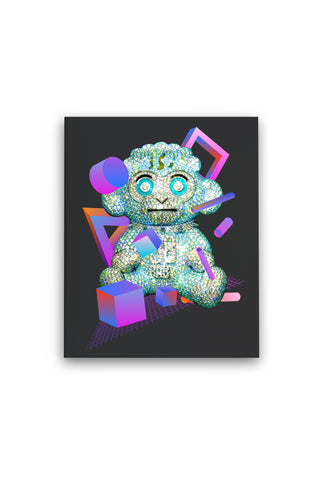 38 Baby Diamond Monkey - Premium Stretched Canvas + 38 BABY 2 DIGITAL ALBUM