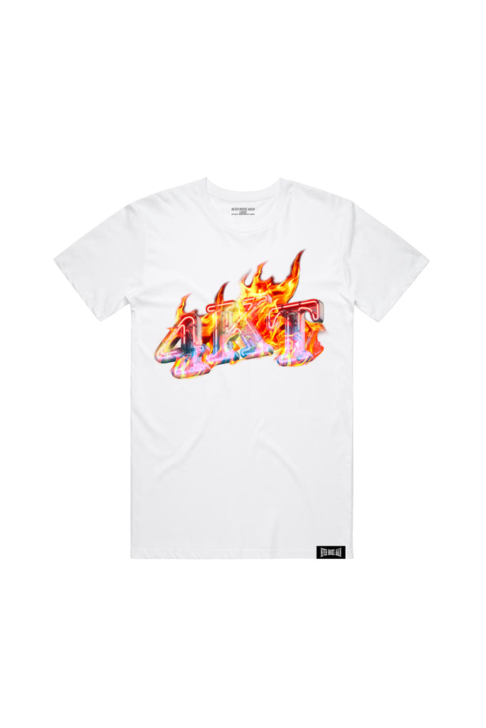 4KT FLAMES T-Shirt - White