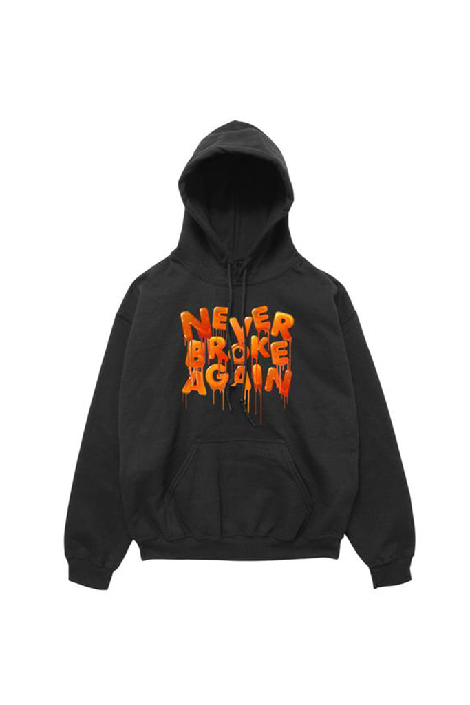 Orange Drip Hoody - Black
