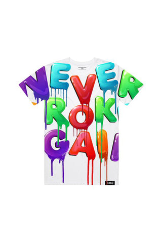 Drip Colors All Over T-Shirt - White