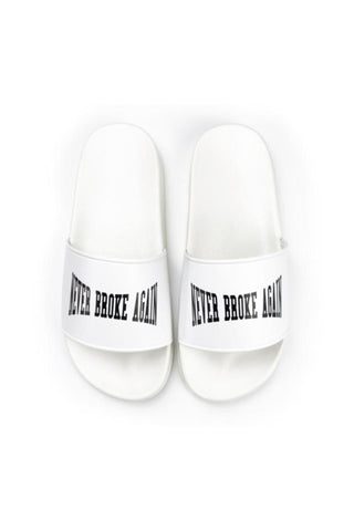 Never Broke Again Slides - White