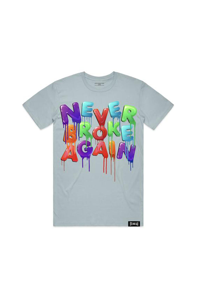 Drip Colors T-Shirt - Pale Blue