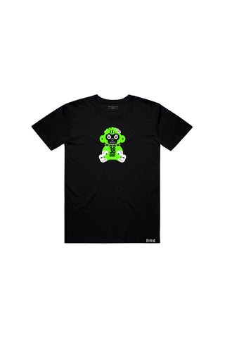 Kids Green 38 Baby Monkey T-shirt - Black