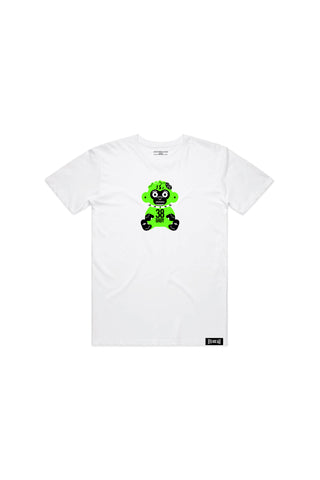 Kids Green 38 Baby Monkey T-shirt - White