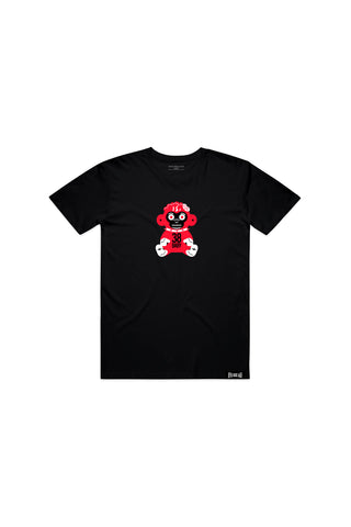 Kids Red 38 Baby Monkey T-shirt - Black