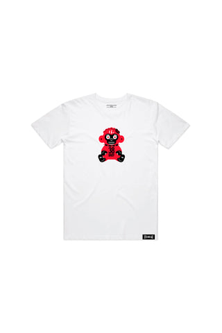 Kids Red 38 Baby Monkey T-shirt - White