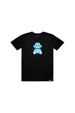 Kids Blue 38 Baby Monkey T-shirt - Black