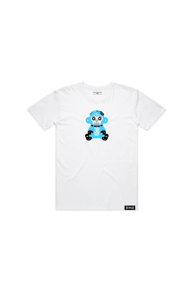 Kids Blue 38 Baby Monkey T-shirt - White