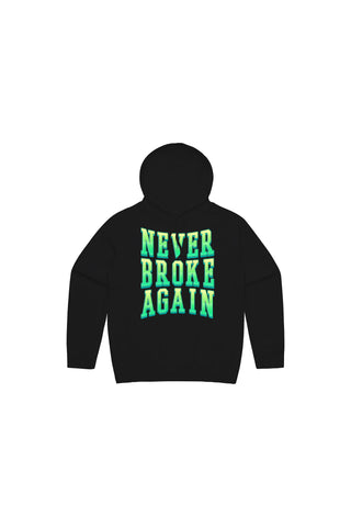 Kids Green Machine Hoody - Black
