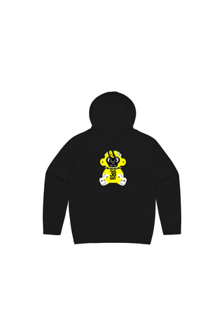 Kids Yellow 38 Baby Monkey Hoody - Black