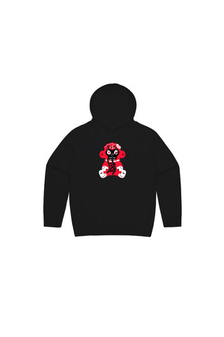 Kids Red 38 Baby Monkey Hoody - Black