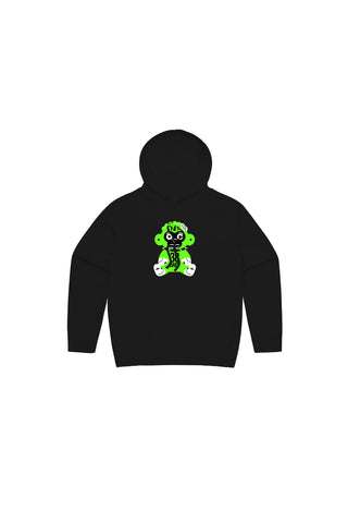 Kids Green 38 Baby Monkey Hoody - Black