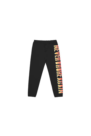 Never Broke Again Kids Flame Joggers - Black