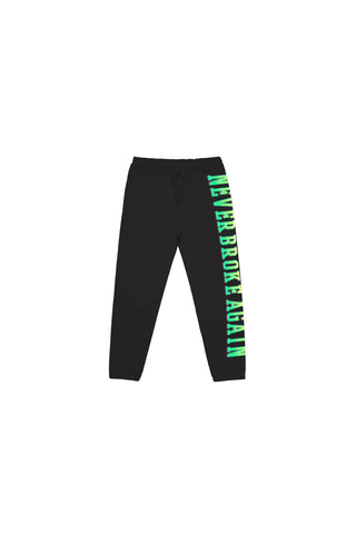 Never Broke Again Kids Green Machine Joggers - Black