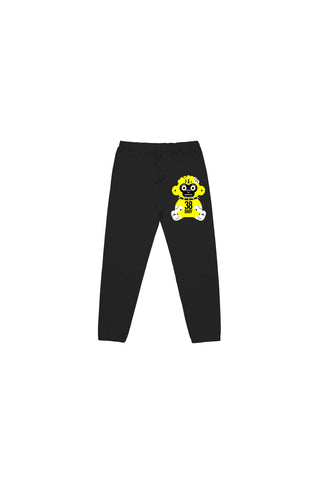 Yellow 38 Baby Monkey Joggers - Black